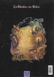 La graine de folie t.3 ; la morrydwen - 4ème de couverture - Format classique