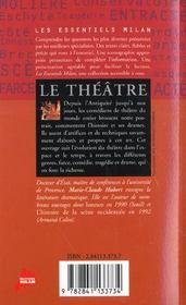 Le theatre - 4ème de couverture - Format classique