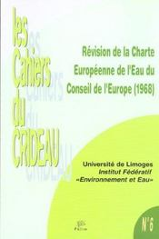 Revision De La Charte Europeenne De L'Eau Du Conseil De L'Europe, 196 8 - Intérieur - Format classique