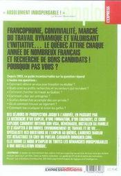 S'Installer Et Travailler Au Quebec (Edition 2006/2007) - 4ème de couverture - Format classique