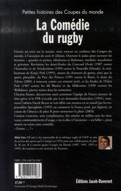 La comédie du rugby - 4ème de couverture - Format classique