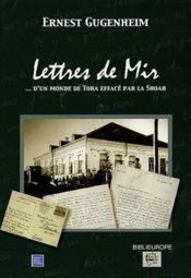 Lettres de mir - Couverture - Format classique