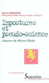 Imposture Et Pseudo-Science ; L'Oeuvre De Mircea Eliade - Intérieur - Format classique