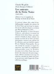 Les Auteurs De La Serie Noire 1945 1995 Broche - 4ème de couverture - Format classique