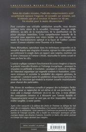 L'extase sexuelle ; conseils et techniques - 4ème de couverture - Format classique