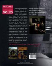 Tableaux volés - 4ème de couverture - Format classique