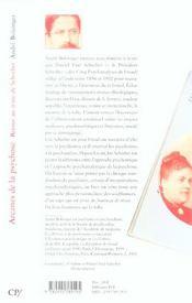 Arcanes De La Psychose ; Retour Au Texte De Schreber - 4ème de couverture - Format classique