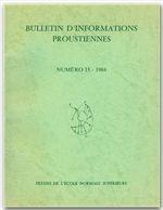 Bulletin D'Informations Proustiennes N.29 - Couverture - Format classique