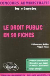 Le Droit Public En 90 Fiches Les Mementos Concours Administratifs Lexique Juridique - Intérieur - Format classique