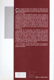 Structure Et Evolution Du Globe Terrestre - 4ème de couverture - Format classique