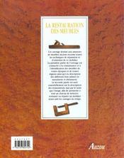 La restauration des meubles - 4ème de couverture - Format classique