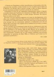 Histoire De L'Inquisition Au Moyen-Age - Tome 3 - 4ème de couverture - Format classique