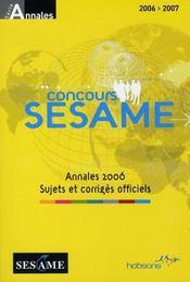 Concours sésame 2006-2007 - Intérieur - Format classique