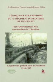 Temoignage Sur L'His Du 76eme Regiment.. - Couverture - Format classique