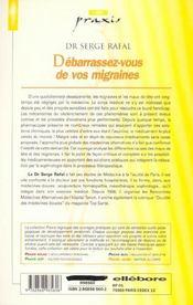 Debarrassez-Vous De Vos Migraines - 4ème de couverture - Format classique