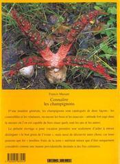 Les champignons - 4ème de couverture - Format classique