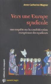 Vers Une Europe Syndicale - Intérieur - Format classique