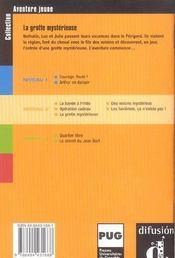 Aventure Jeune-La Grotte Mysterieuse-Niv.2 - 4ème de couverture - Format classique