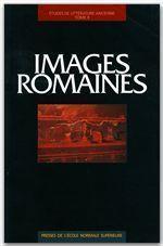 Images romaines ; études de littérature ancienne - Couverture - Format classique