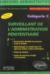 Surveillant De L'Administration Penitentiaire Categorie C Concours Externe Administratifs - Intérieur - Format classique