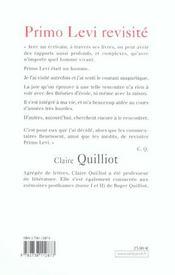 Primo Levi Revisite - 4ème de couverture - Format classique