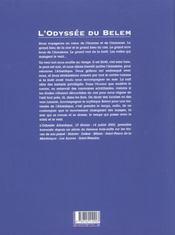 L'Odyssee Du Belem - 4ème de couverture - Format classique