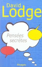 Pensees Secretes-1ere Ed - Intérieur - Format classique