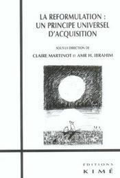 Reformulation (La) - Intérieur - Format classique
