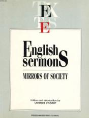 English Sermons Mirrors Of Society - Couverture - Format classique