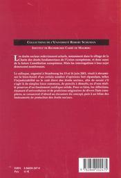 Les Droits Sociaux Ou La Demolition De Quelques Poncifs. Colloque De La Faculte De Droit, Des Scien - 4ème de couverture - Format classique