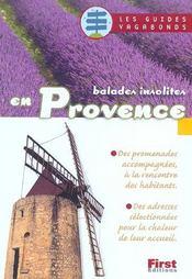 Balades Insolites En Provence - Intérieur - Format classique
