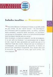 Balades Insolites En Provence - 4ème de couverture - Format classique