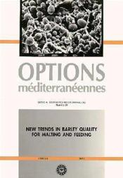 New trends in barley quality for maltingand feeding ; serie a 20 - Couverture - Format classique