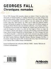 Chroniques nomades - 4ème de couverture - Format classique