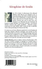 Séraphine de Senlis ; le souffle de l'ange - Couverture - Format classique