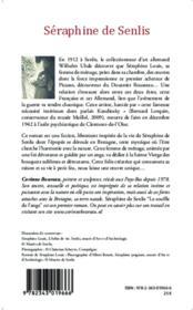 Séraphine de Senlis ; le souffle de l'ange - 4ème de couverture - Format classique