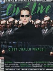Cine Live - N° 73 - Matrix Revolutions - Couverture - Format classique