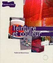 Teinture Et Couleur - Couverture - Format classique