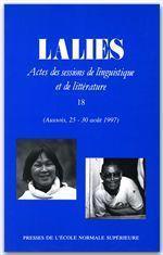 Revue Lalies N.18 - Couverture - Format classique