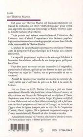 Essai Sur Therese Martin - 4ème de couverture - Format classique