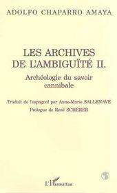 Les Archives De L'Ambiguite T.2 ; Archeologie Du Savoir Cannibale - Intérieur - Format classique