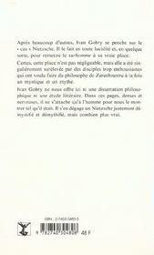Nietzsche Ou La Compensation - 4ème de couverture - Format classique