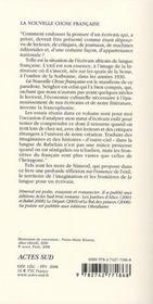 La Nouvelle Chose Francaise - 4ème de couverture - Format classique