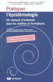 Pratiquer L'Epistemologie - Couverture - Format classique