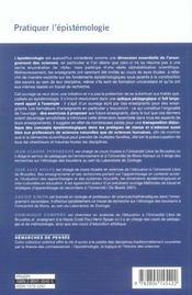 Pratiquer L'Epistemologie - 4ème de couverture - Format classique
