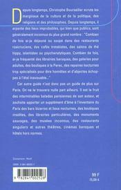 Guide De L'Autre Paris - 4ème de couverture - Format classique