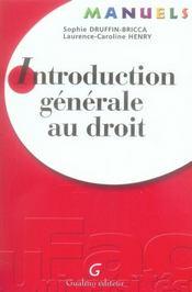 Manuel Introduction Au Droit Et Droit Civil, 1ere Edition - Intérieur - Format classique