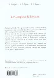 Le complexe du herisson - 4ème de couverture - Format classique