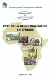 Etat de la decentralisation en afrique - Couverture - Format classique