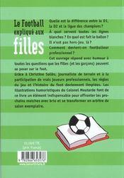 Football explique aux filles (le) - 4ème de couverture - Format classique